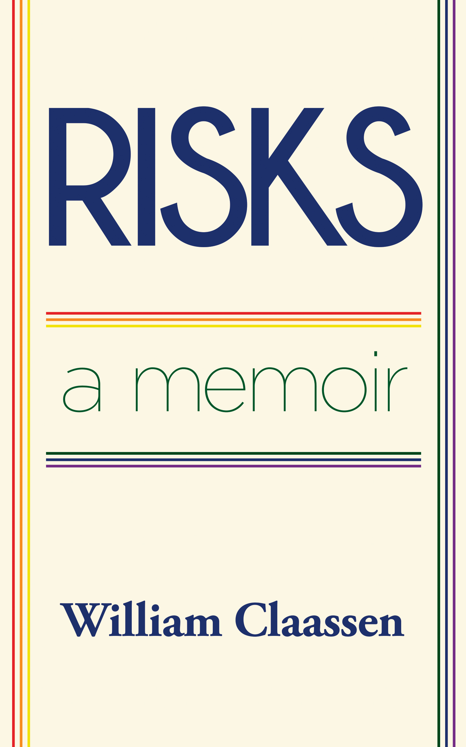 cover of RISKS: a memoir